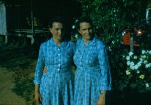 Mama (on left) and her twin sister